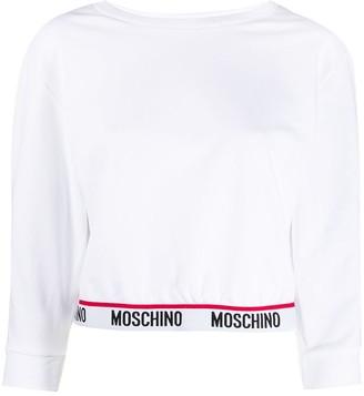 Moschino Branded Stripe Sweatshirt