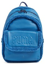 Fenty Puma By Rihanna Mini Faux Shearling Backpack - Blue