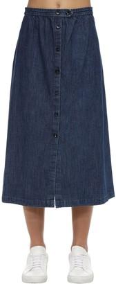 A.P.C. Cotton Denim Midi Skirt