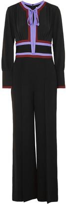 Diane von Furstenberg Elkie Striped Silk-crepe Jumpsuit