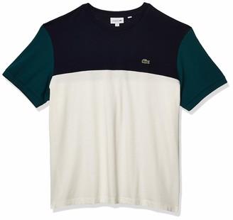 Lacoste Men's Short Sleeve Regular Fit Colorblock Jersey T-Shirt