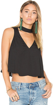 Show Me Your Mumu Casey Collar Top in Black. - size M (also in S)