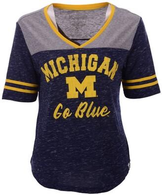 Colosseum Women's Michigan Wolverines Mr Big V-neck T-Shirt