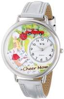 Whimsical Watches Unisex U1010007 Cheer Mom silver Leather Watch