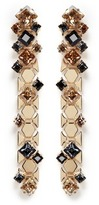 Lanvin 'Chain Lumiere' crystal honeycomb chain drop earrings