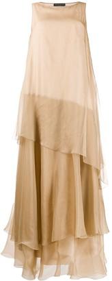 Fabiana Filippi Tiered Ruffled Gown