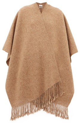 LAUREN MANOOGIAN Fringed Basketweave Scarf - Camel