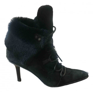 Gucci Black Faux fur Ankle boots
