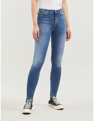 7 For All Mankind Skinny Slim Illusion high-rise jeans