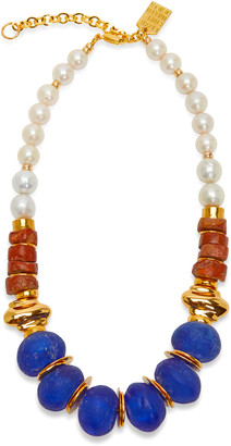 Lizzie Fortunato Bombay Gold-Plated Brass And Bead Necklace