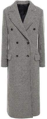 Joseph Double-breasted Houndstooth Donegal Wool-blend Coat