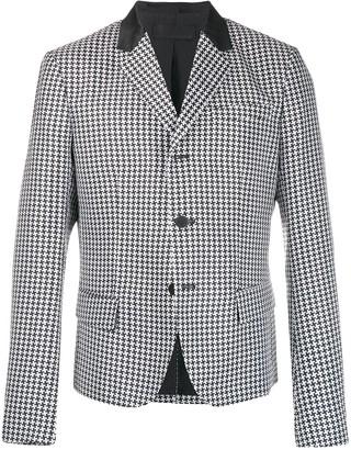 Haider Ackermann houndstooth button jacket