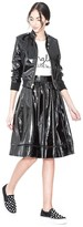 Alice + Olivia Nixon Mock Collar Patent Leather Jacket