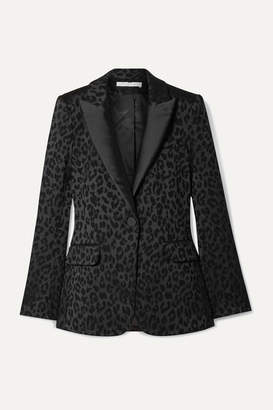 Veronica Beard Ashburn Dickey Satin-jacquard Blazer - Black