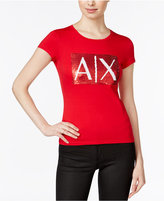 Armani Exchange Sequin Logo T-Shirt