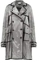 RED Valentino Coated Striped Modal-Blend Trench Coat