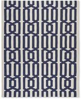 Williams-Sonoma Graphic Link Indoor/Outdoor Rug , Dress Blue