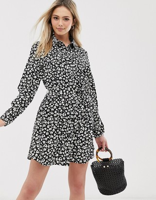 Brave Soul alenia shirt dress in animal print
