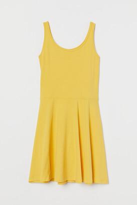 H&M Circle-skirt Jersey Dress