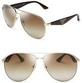 Prada Double Bar Aviator Sunglasses, 60mm