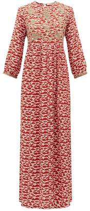 Muzungu Sisters - Touba Mushroom Print Silk Dress - Womens - Red Multi