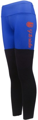 Women's Royal Florida Gators Polyester and Sweater Combo Leggings
