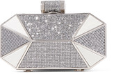 Halston Lamé and glittered leather clutch