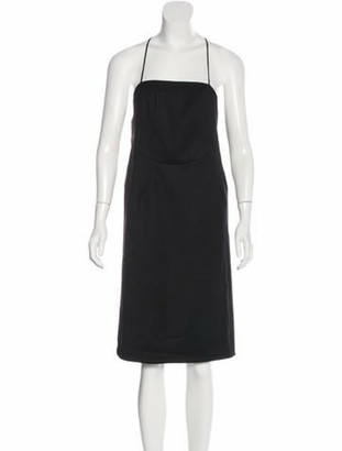 Doo.Ri Wool Midi Dress Black