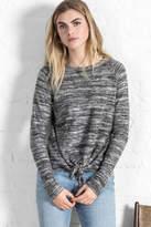 Lilla P Reversible Tie Front Sweatshirt