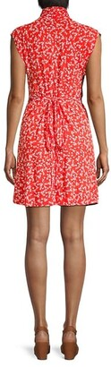 French Connection Bruna Floral Wrap-Effect Dress