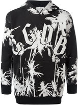 Golden Goose Deluxe Brand palm tree print hoodie - men - Cotton - XS