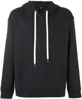 No.21 logo embossed hoodie - men - Cotton/Polyamide - 48