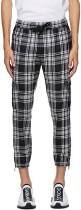 Dolce & Gabbana Black and White Tartan Cargo Pants
