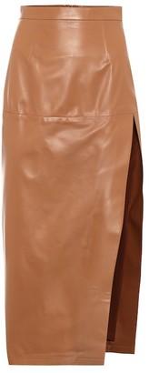 ZEYNEP ARCAY High-rise leather pencil skirt