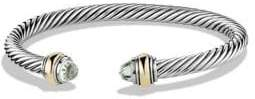 David Yurman Cable Classic Bracelet with Prasiolite and Gold