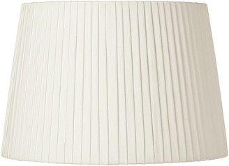 OKA 40cm Pleated Linen Lampshade - Off White