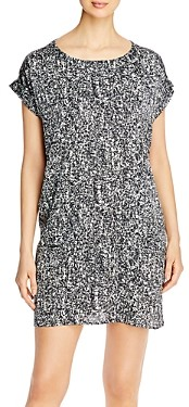 Eileen Fisher Printed Boat Neck Dress - 100% Exclusive