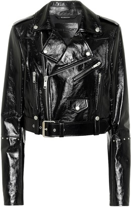 Givenchy Patent leather biker jacket
