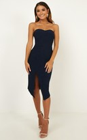 Showpo By Your Side dress in navy - 12 (L) 15% off Cocktail Styles