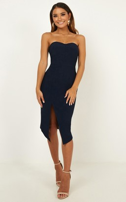 Showpo By Your Side dress in navy - 12 (L) The Racewear Edit