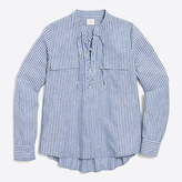 J.Crew Factory Striped lace-up shirt
