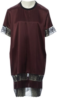 Givenchy Burgundy Silk Dresses