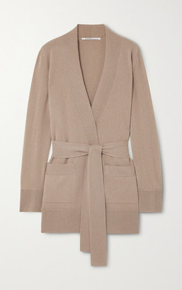 Agnona Belted Cashmere Cardigan - Taupe