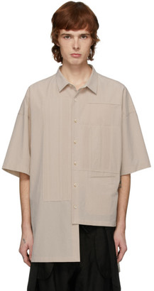 Ziggy Chen Off-White Cotton Short Sleeve Shirt
