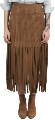 Polo Ralph Lauren Brown Fringed Skirt