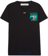 Off-White Oversized Printed Stretch-jersey T-shirt - Black