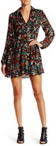 Romeo & Juliet Couture Long Sleeve Printed Woven Dress