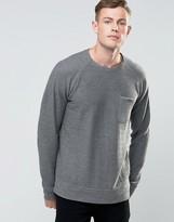 Brave Soul Loop Back Crew Neck Sweater