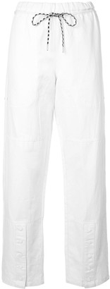 Proenza Schouler White Label PSWL drawstring straight trousers