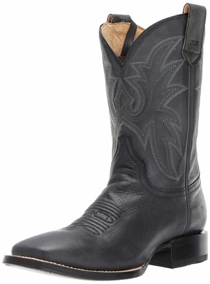 Roper Men's Loaded Square Toe Western Boot Black 7.5 D D US